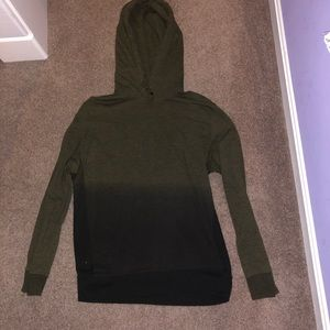 American Eagle dark green and black hoodie